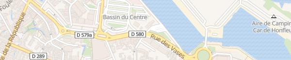 Karte Busbahnhof Honfleur