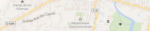 Karte Place Mahomme Vic-Fezensac