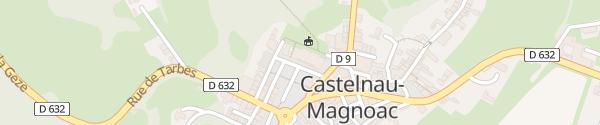 Karte Place de l'Estelette Castelnau-Magnoac