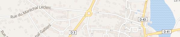 Karte Rue Amiral Courbet Saint-Astier