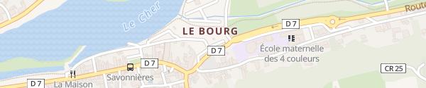 Karte Rue des Saules Savonnières