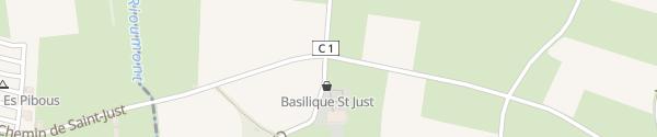 Karte Basilique Saint-Just Valcabrère