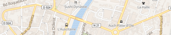 Karte Rue Masséna Auch