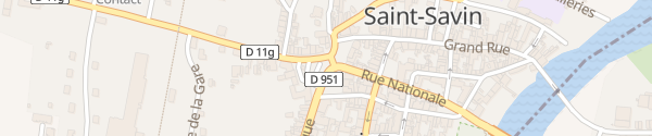 Karte Place de la République Saint-Savin