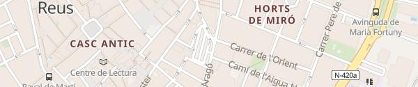 Karte Àrea Riera Miró Reus