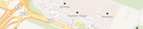 Karte Carrefour in Tarragona Tarragona