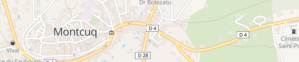 Karte Rue du Pontet Montcuq