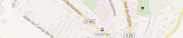 Karte Avenue de Montauban Castelnau-d'Estrétefonds