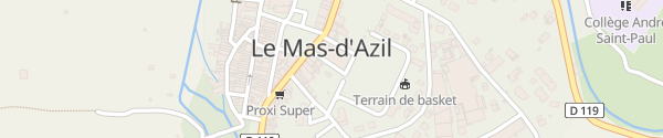 Karte Mairie Le Mas-d'Azil