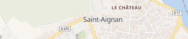 Karte Place du Président Wilson Saint-Aignan-sur-Cher