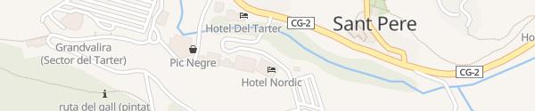 Karte Hotel Nordic El Tarter