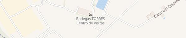 Karte Bodegas Torres Visitors Centre Pacs del Penedes