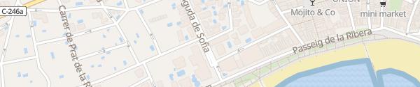 Karte Hotel Avenida Sofia Boutique & Spa Sitges