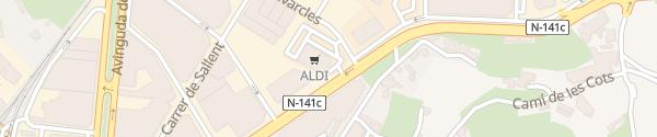 Karte ALDI Manresa
