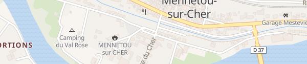 Karte Rue du Val Rose Mennetou-sur-Cher