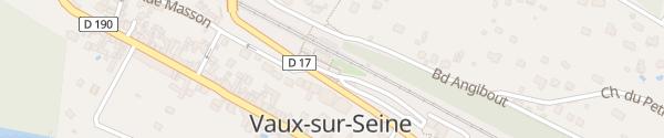 Karte Place de la Gare Vaux-sur-Seine