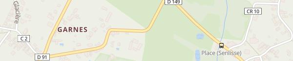 Karte Gîte des Prés de Garnes Senlisse