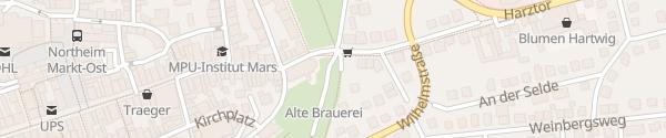 Karte Parkplatz Alte Brauerei Northeim