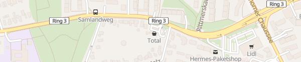 Karte Total Tankstelle Hamburg