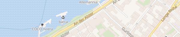 Karte Le Méridien Hamburg