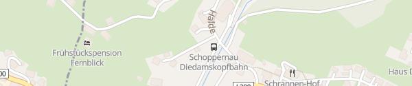 Karte Bergbahnen Diedamskopf Schoppernau