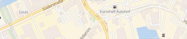 Karte KFZ-Zulassungsstelle Hamburg