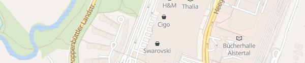Karte Alstertal Einkaufszentrum Parkplatz West Hamburg