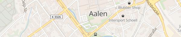 Karte Rathaus Tiefgarage (P1) Aalen