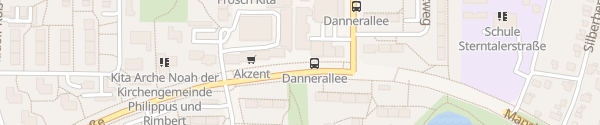 Karte Manshardtstraße Hamburg