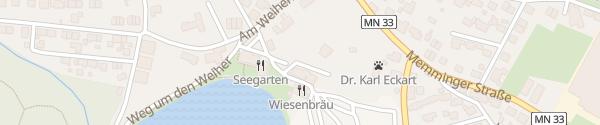 Karte Wiesenbräu Wirtshaus Buxheim