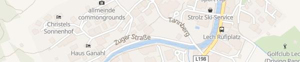Karte Hotel Haldenhof Lech am Arlberg