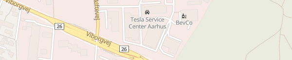 Karte Tesla Supercharger Aarhus