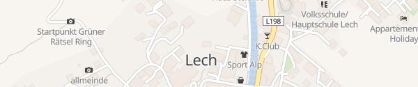 Karte Skihütte Schneggarei Lech