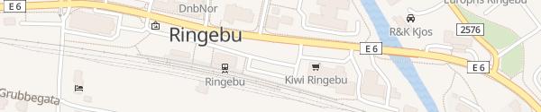Karte Parkplatz Bahnhof Ringebu