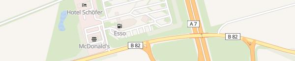 Karte Maxi Autohof Rhüden Seesen