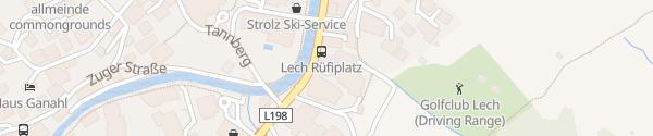 Karte Tiefgarage Rüfiplatz Lech