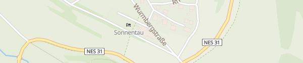 Karte Hotel Sonnentau Fladungen