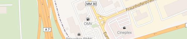 Karte OMV Tankstelle Memmingen