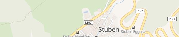 Karte Arlberg Stuben Stuben am Arlberg