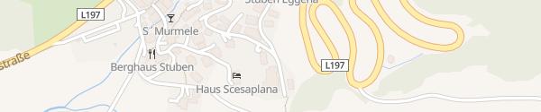 Karte Hotel Mondschein Stuben am Arlberg