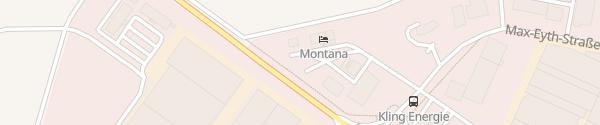 Karte Tesla SuperCharger Hotel Montana Ellwangen (Jagst)