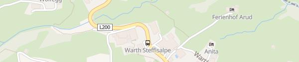 Karte Hotel Walserstube Warth