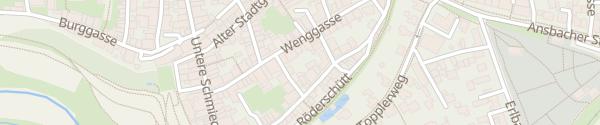Karte Hotel Altes Brauhaus Rothenburg ob der Tauber