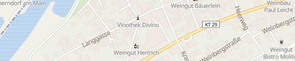 Karte DIVINO Nordheim am Main