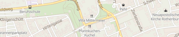 Karte Villa Mittermeier Rothenburg ob der Tauber