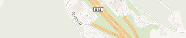 Karte Burger King Grelland Süd Holmestrand
