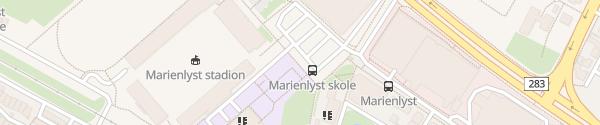 Karte Marienlyst Stadion Drammen