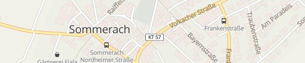 Karte Parkplatz Sommerach
