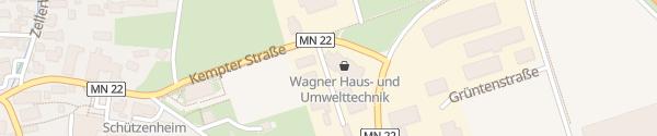 Karte Wagner Haus- und Umwelttechik Woringen