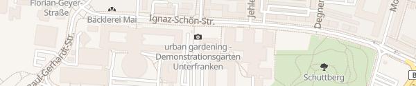 Karte E-Bike Ladesäule am Olympia-Morata-Gymasium Schweinfurt